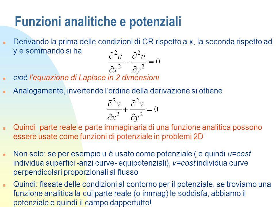 Funzioni analitiche e potenziali