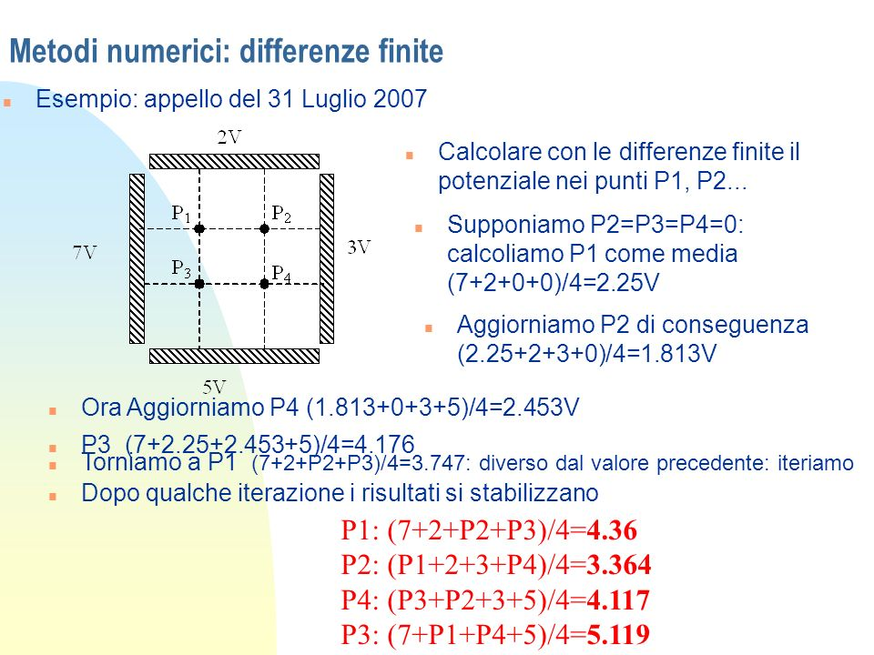 Metodi numerici: differenze finite