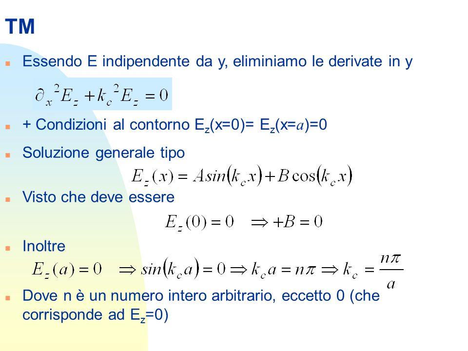 TM Essendo E indipendente da y, eliminiamo le derivate in y