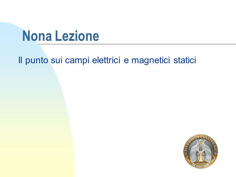 Il punto sui campi elettrici e magnetici statici