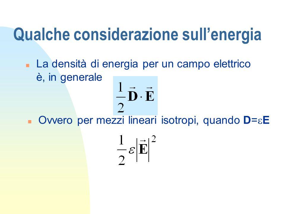 Qualche considerazione sull'energia