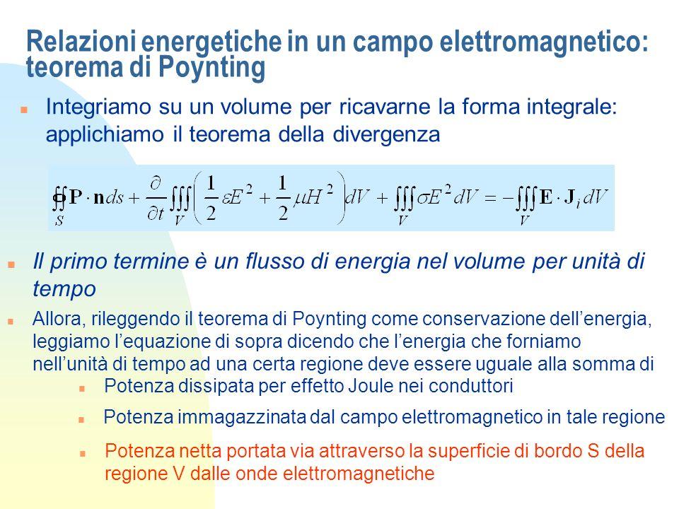 Relazioni energetiche in un campo elettromagnetico: teorema di Poynting