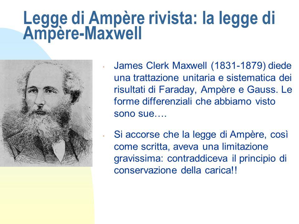 Legge di Ampère rivista: la legge di Ampère-Maxwell
