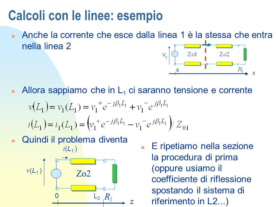 Calcoli con le linee: esempio