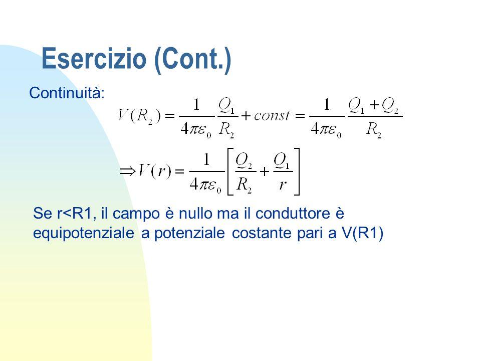 Esercizio (Cont.) Continuità: