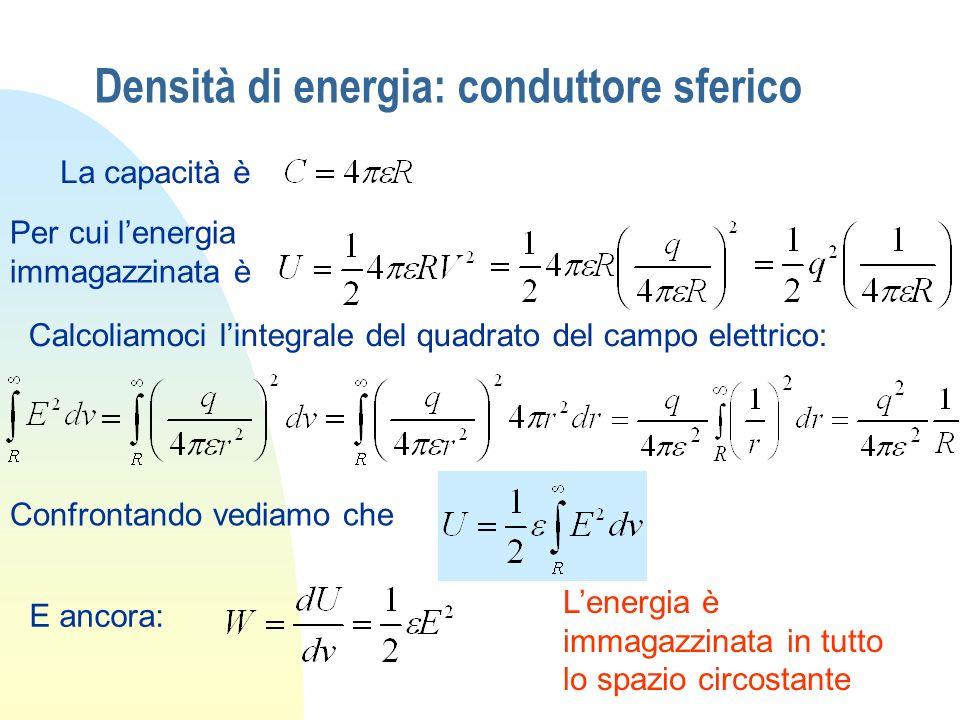 Densità di energia: conduttore sferico