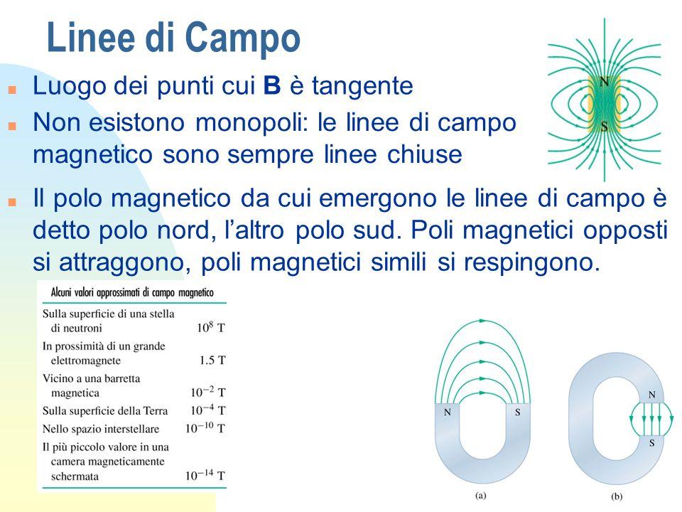 Linee di Campo Luogo dei punti cui B è tangente