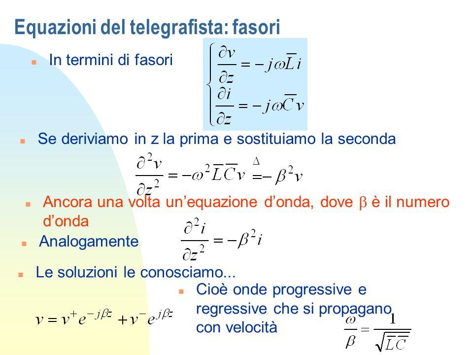 Equazioni del telegrafista: fasori