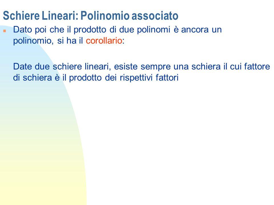 Schiere Lineari: Polinomio associato