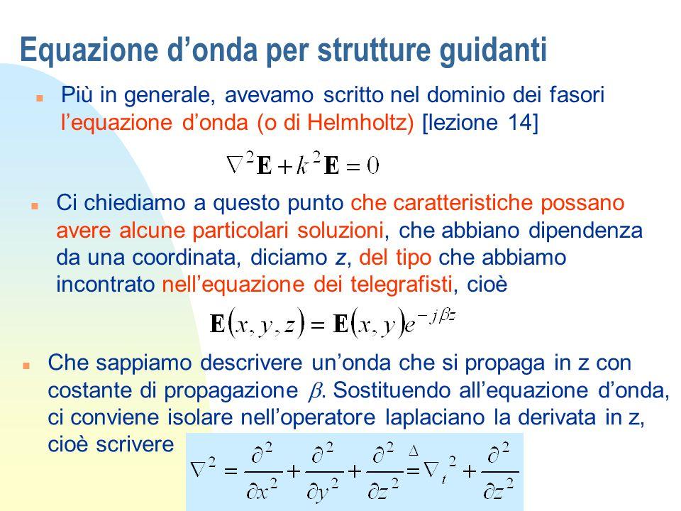 Equazione d'onda per strutture guidanti