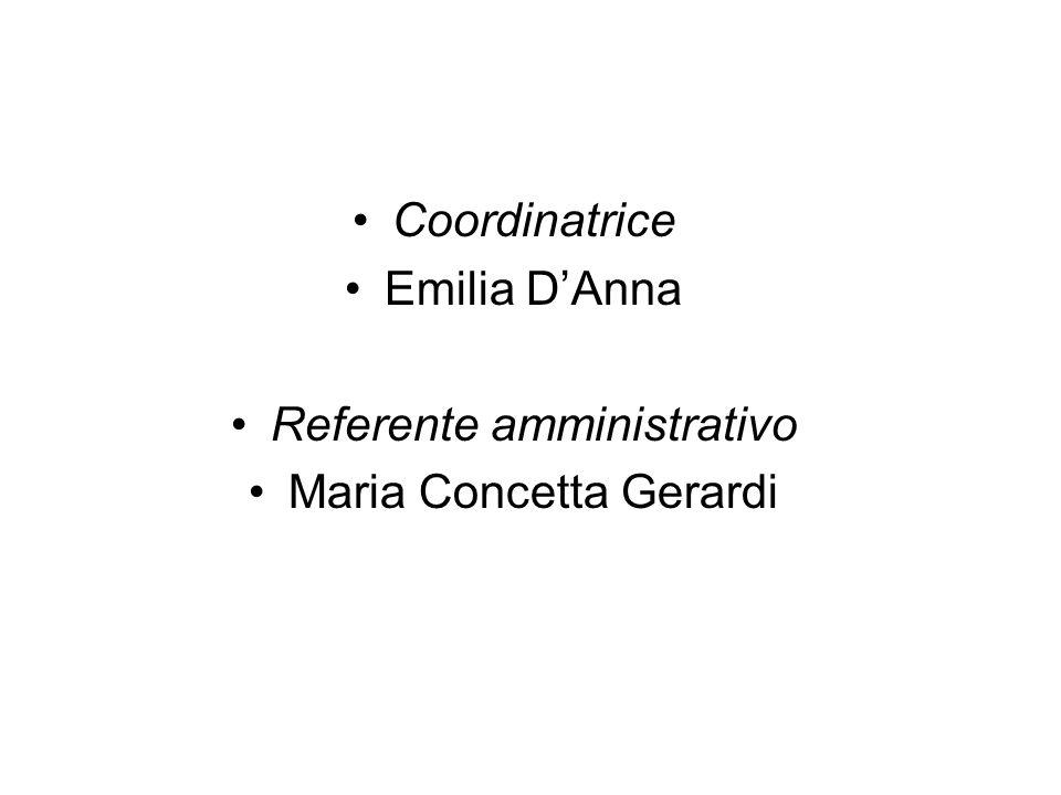 Referente amministrativo Maria Concetta Gerardi