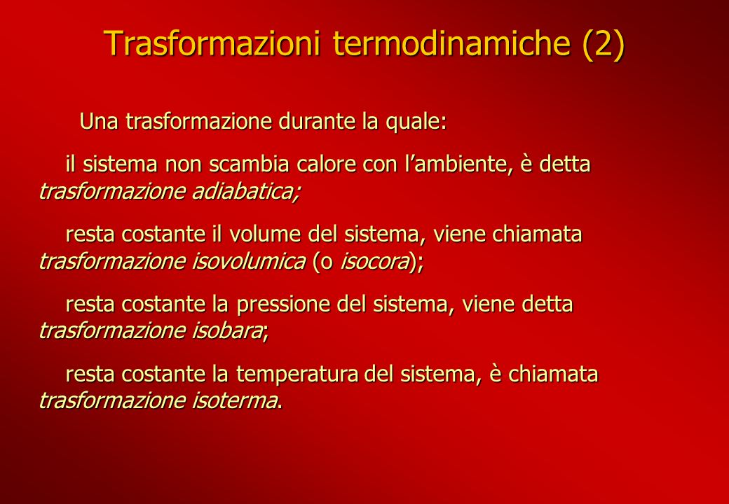 Trasformazioni termodinamiche (2)