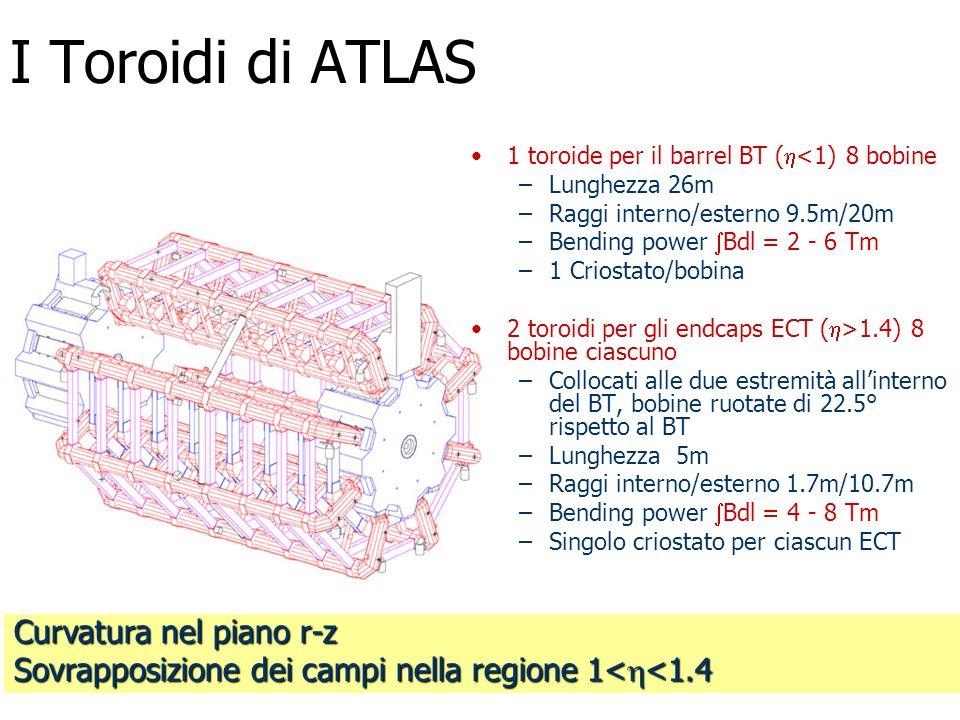 I Toroidi di ATLAS Curvatura nel piano r-z