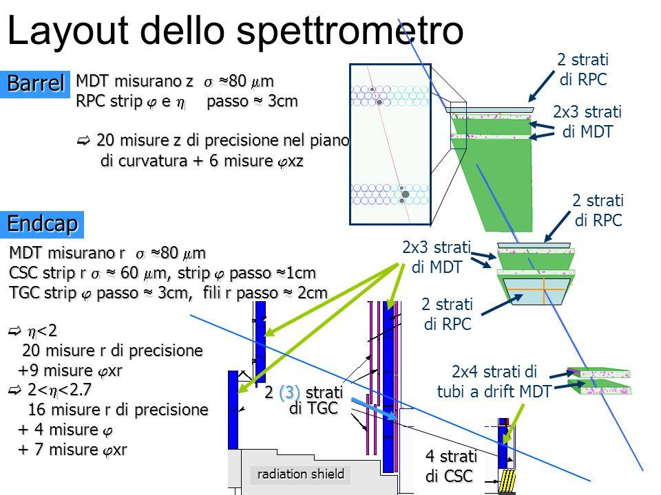 Layout dello spettrometro