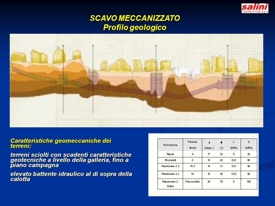 SCAVO MECCANIZZATO Profilo geologico