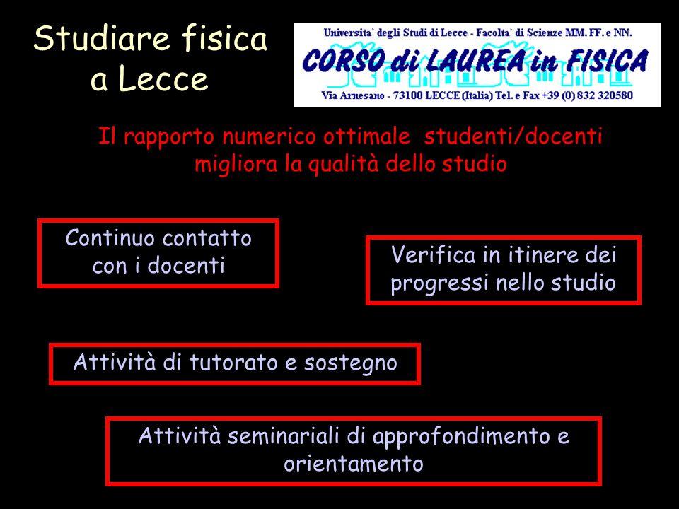 Studiare fisica a Lecce