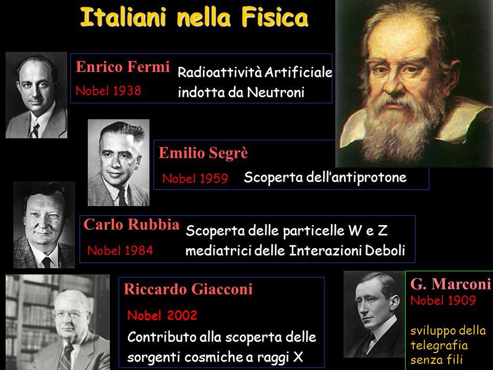 Italiani nella Fisica Enrico Fermi Emilio Segrè Carlo Rubbia