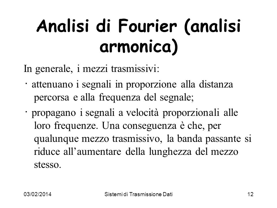 Analisi di Fourier (analisi armonica)