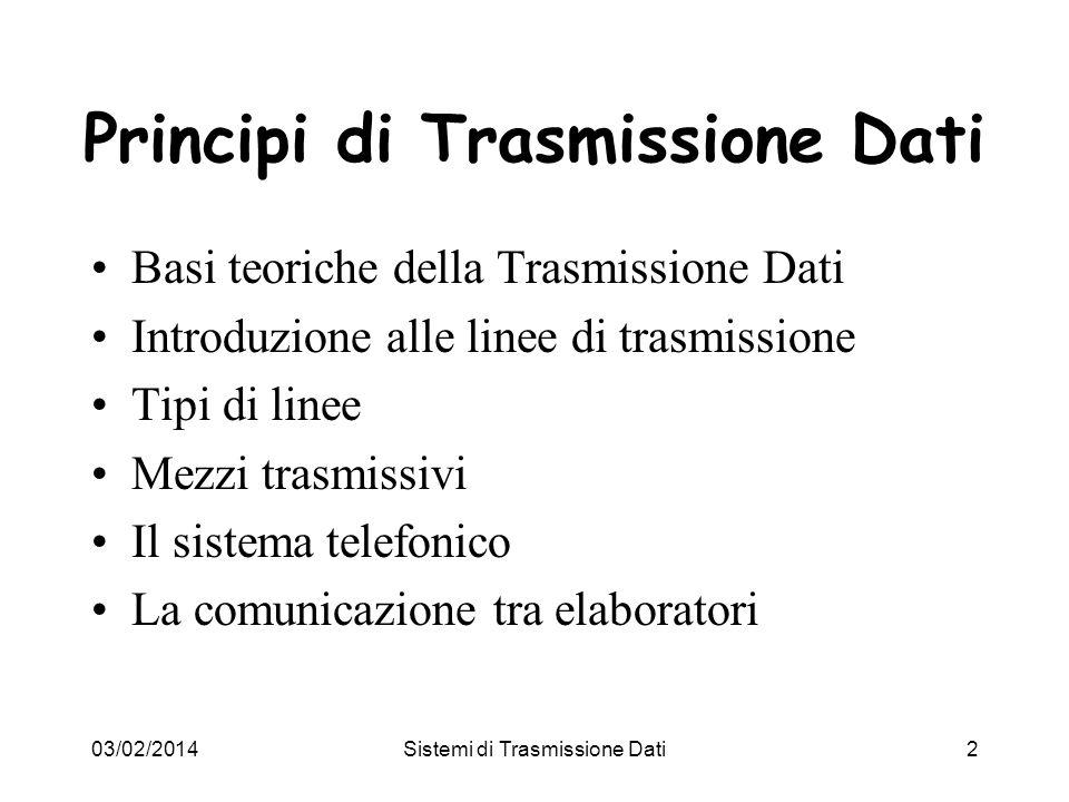 Principi di Trasmissione Dati