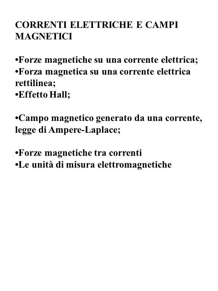 CORRENTI ELETTRICHE E CAMPI MAGNETICI