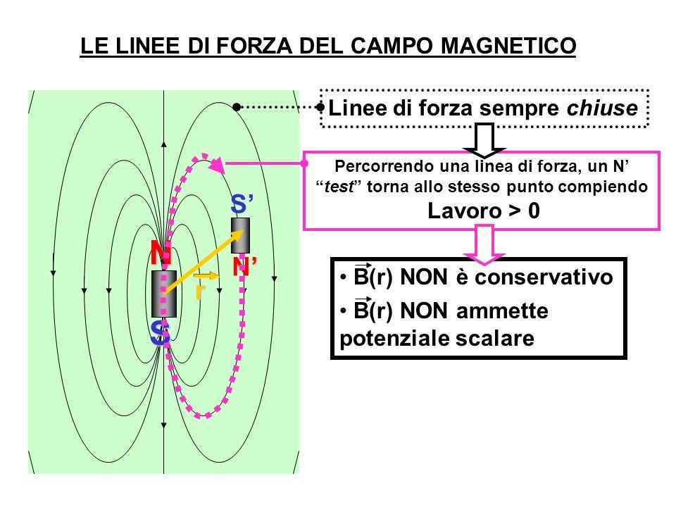 N S S' N' r LE LINEE DI FORZA DEL CAMPO MAGNETICO