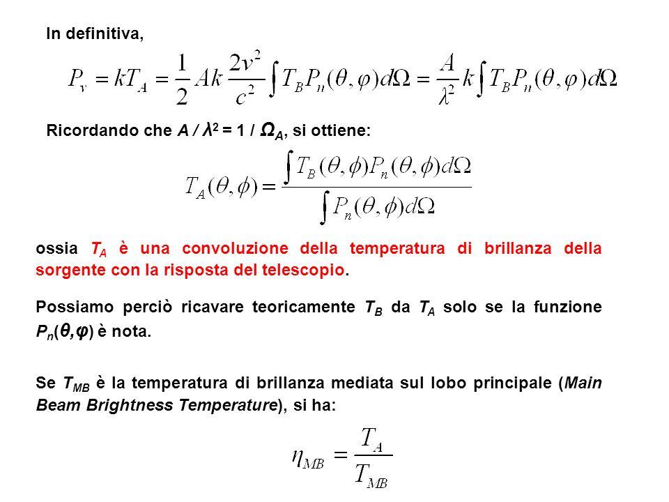 In definitiva, Ricordando che A / λ2 = 1 / ΩA, si ottiene: