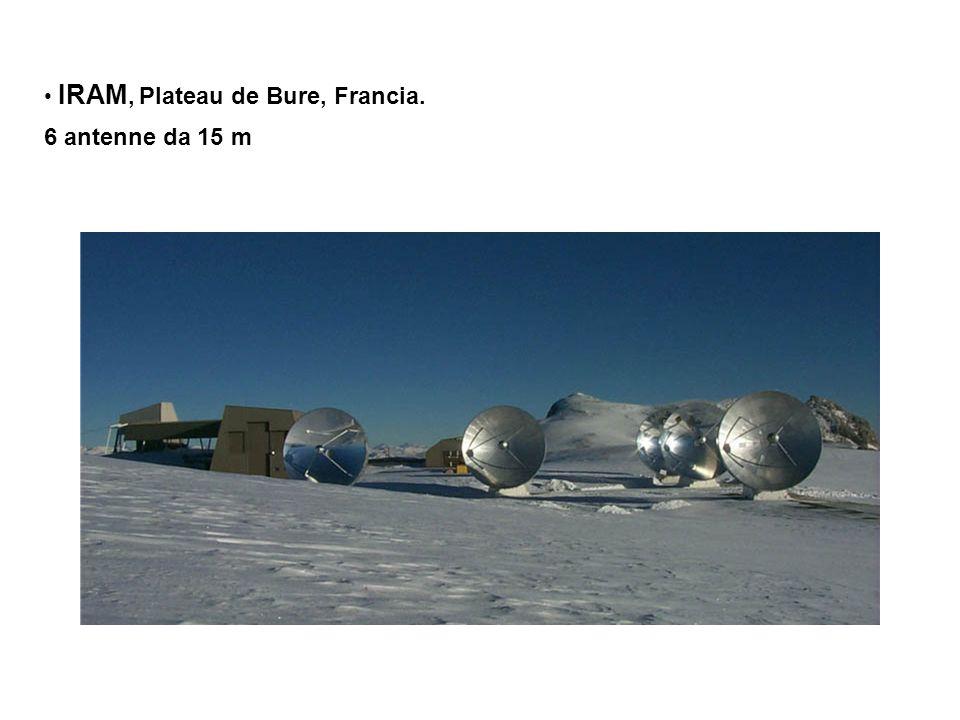 IRAM, Plateau de Bure, Francia. 6 antenne da 15 m