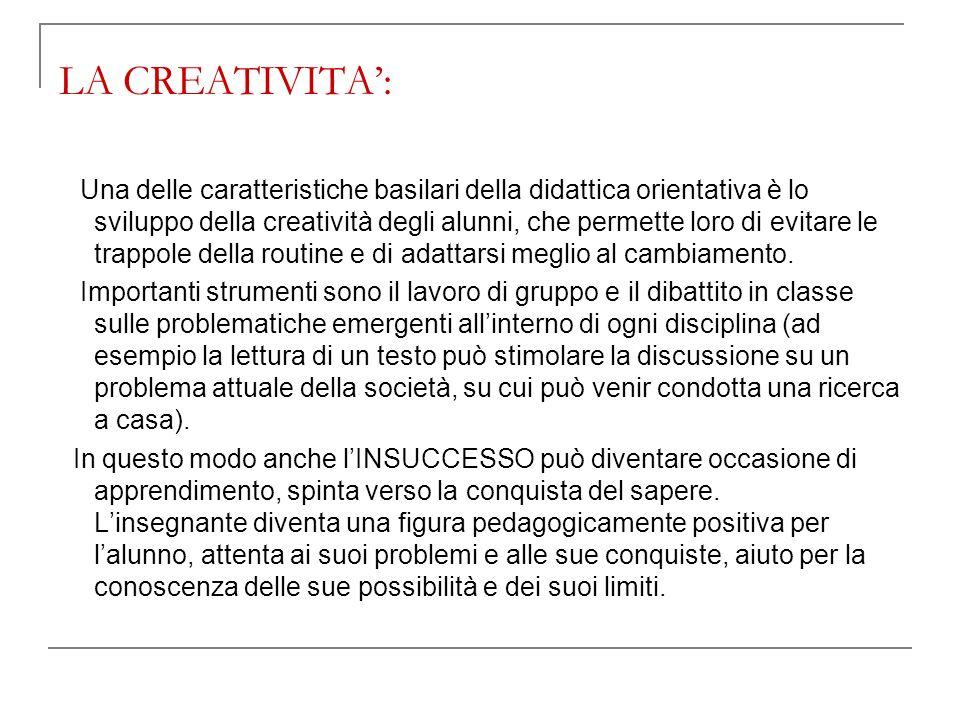 LA CREATIVITA':
