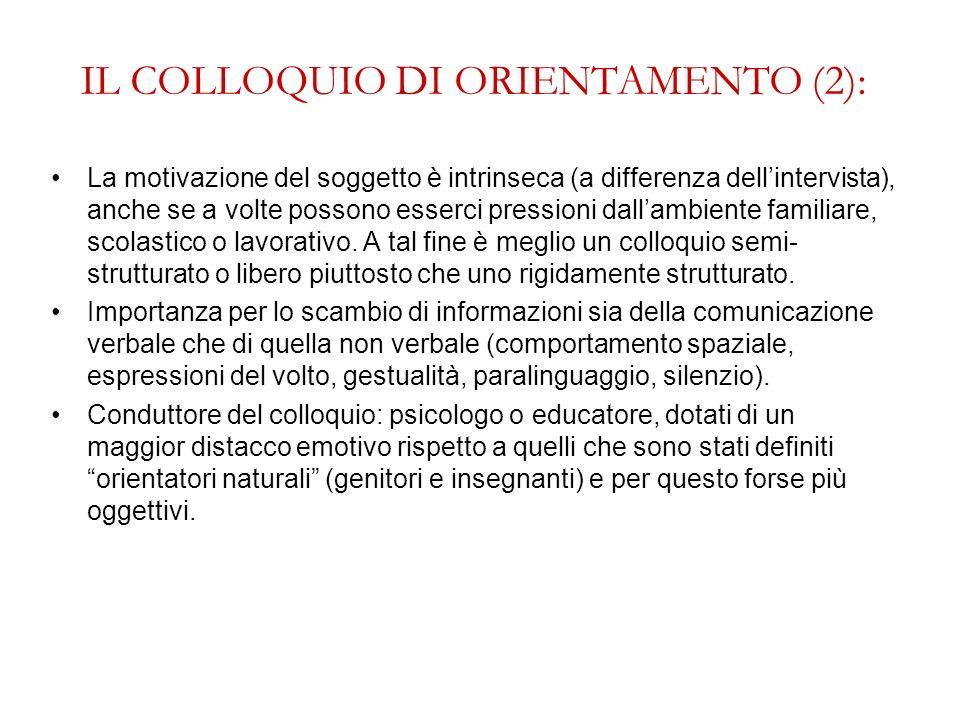 IL COLLOQUIO DI ORIENTAMENTO (2):