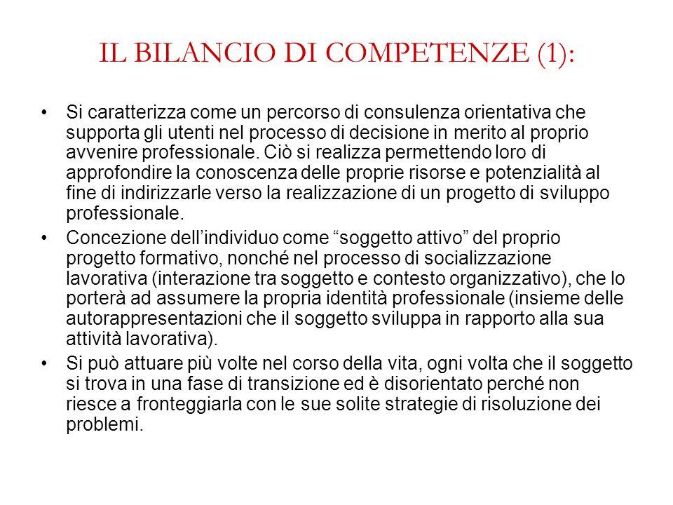 IL BILANCIO DI COMPETENZE (1):