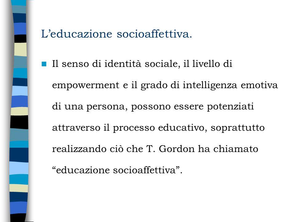 L'educazione socioaffettiva.