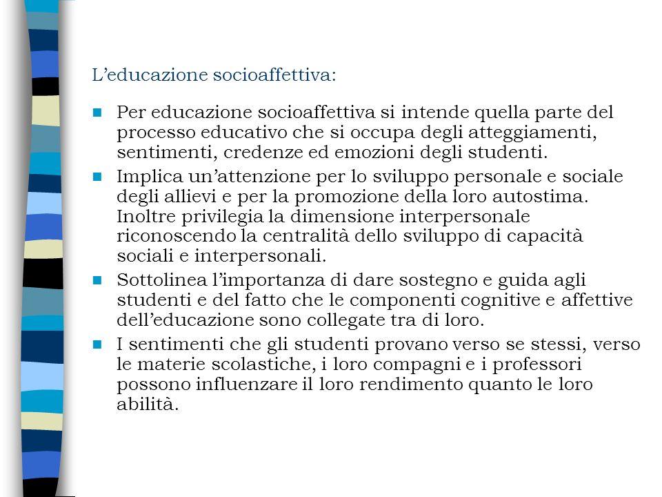 L'educazione socioaffettiva: