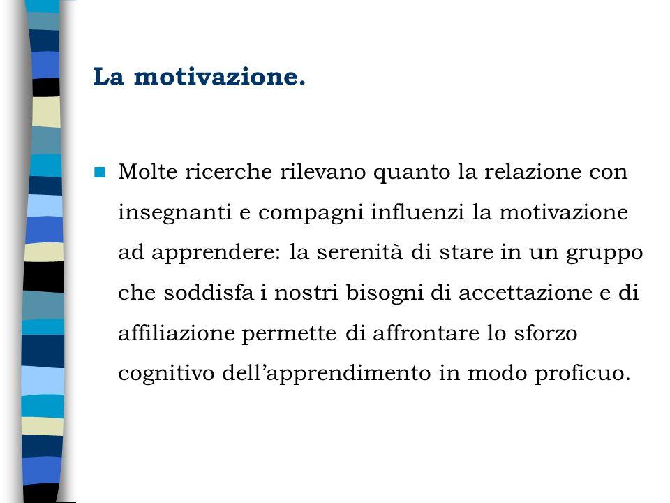 La motivazione.