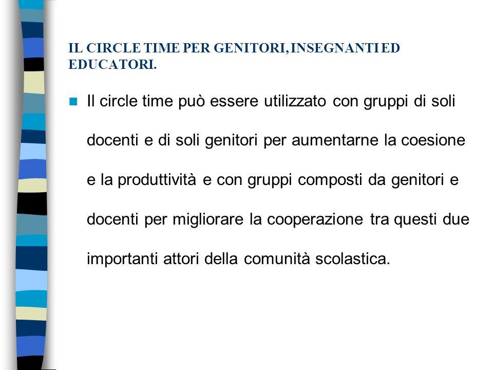 IL CIRCLE TIME PER GENITORI, INSEGNANTI ED EDUCATORI.