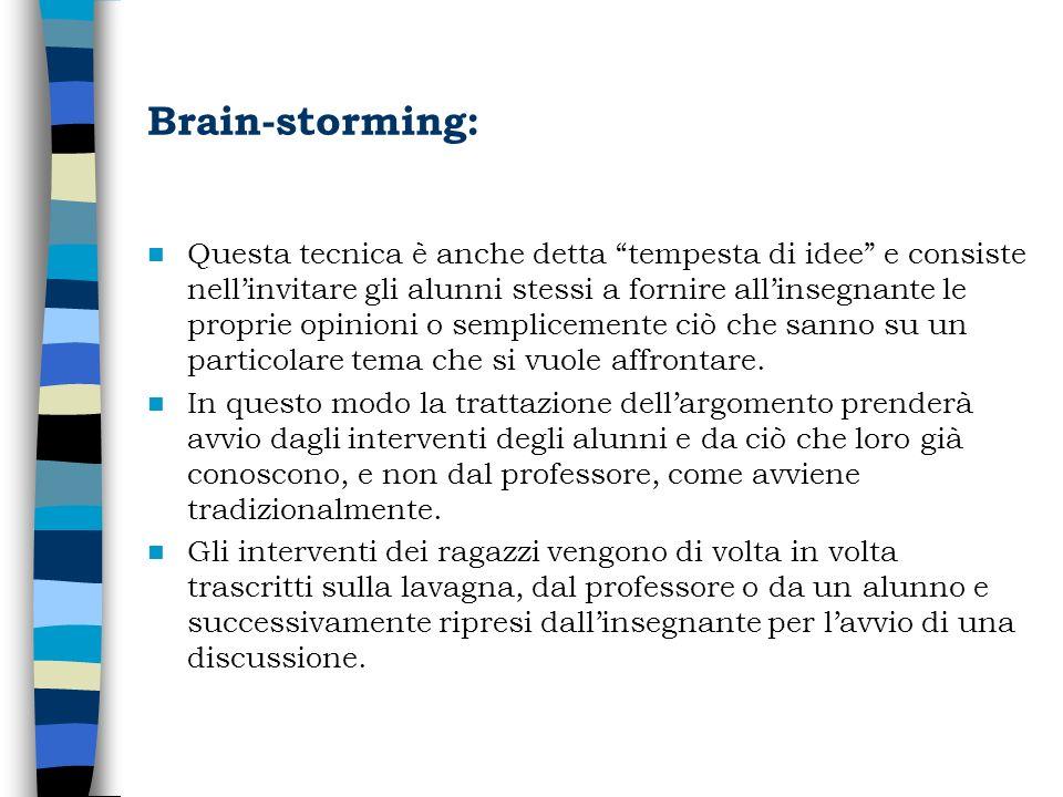 Brain-storming: