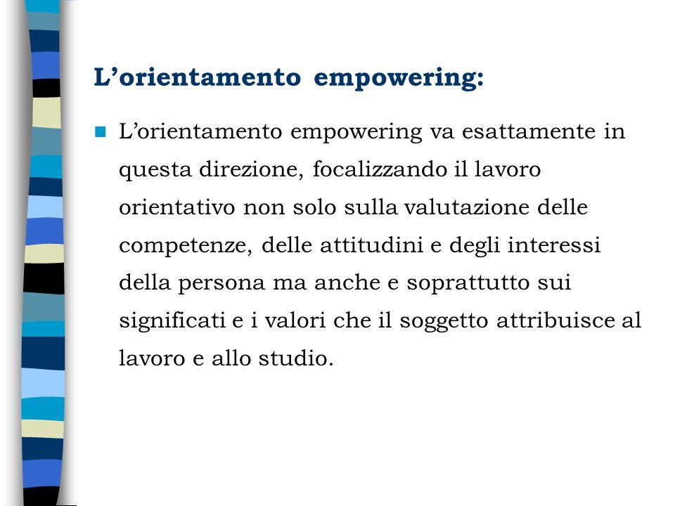 L'orientamento empowering: