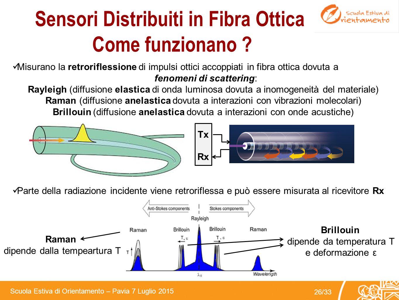 Sensori Distribuiti in Fibra Ottica