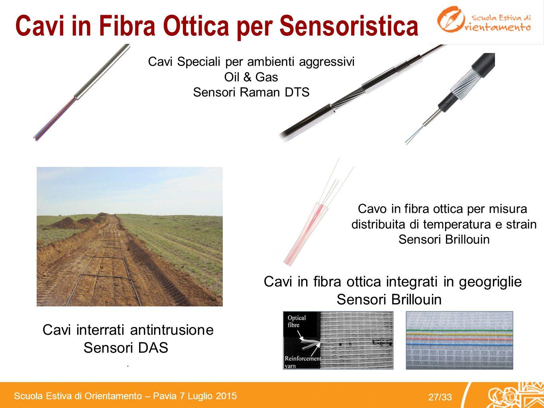 Cavi in Fibra Ottica per Sensoristica