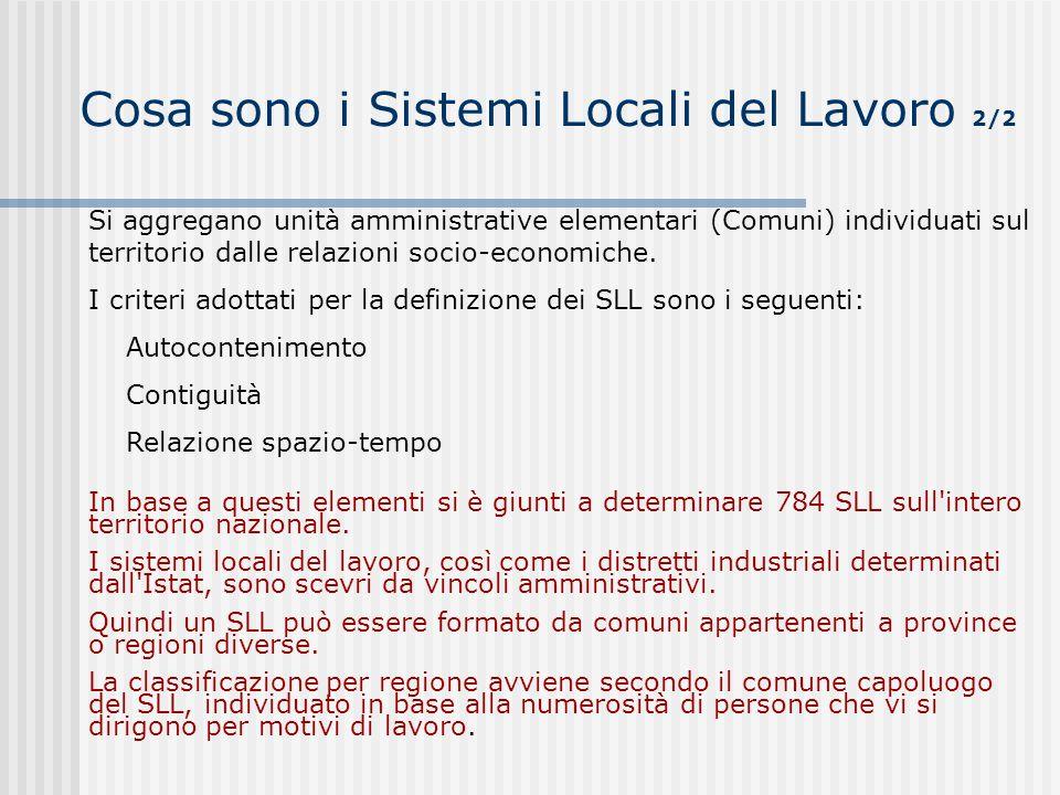 Cosa sono i Sistemi Locali del Lavoro 2/2