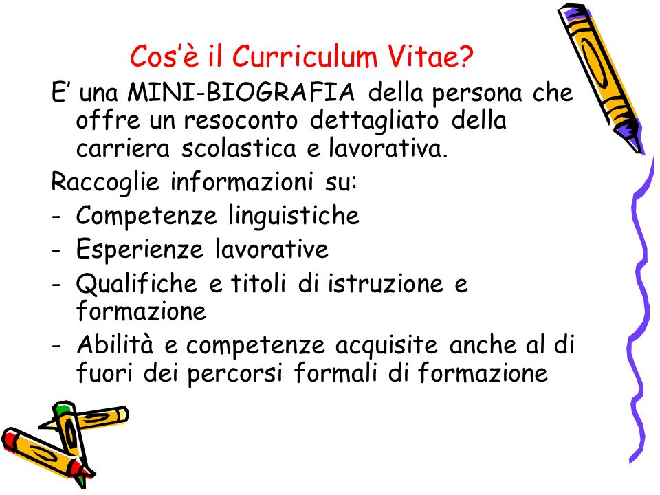 Cos'è il Curriculum Vitae