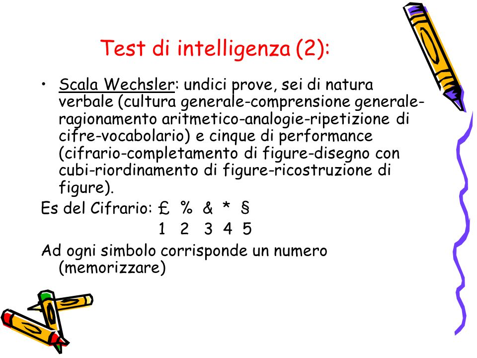 Test di intelligenza (2):
