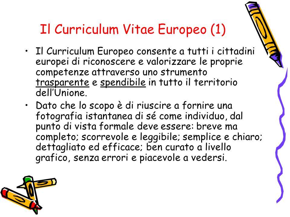 Il Curriculum Vitae Europeo (1)