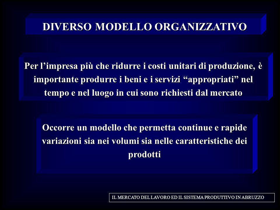 DIVERSO MODELLO ORGANIZZATIVO