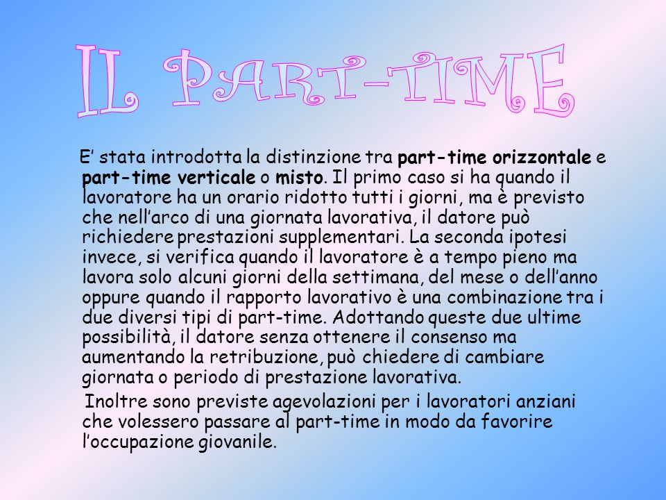 IL PART-TIME