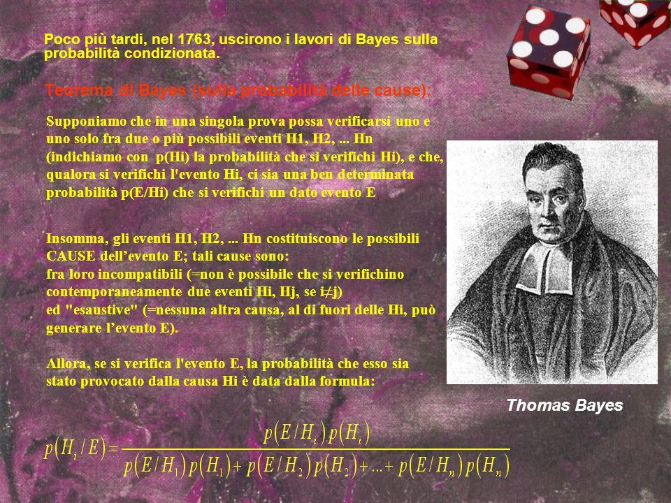 Teorema di Bayes (sulla probabilità delle cause):