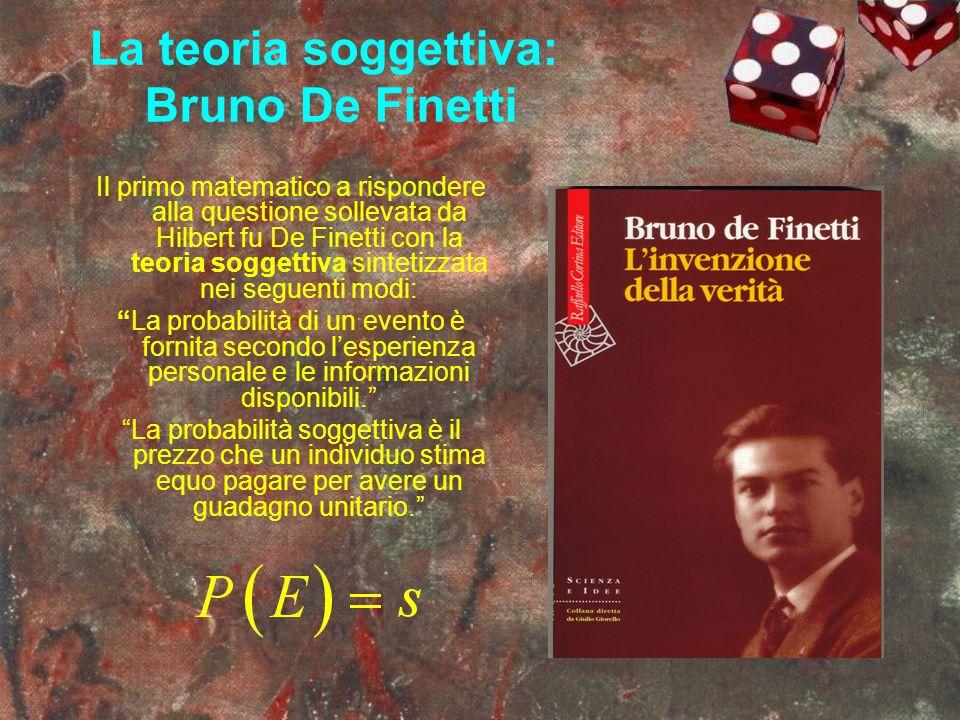La teoria soggettiva: Bruno De Finetti