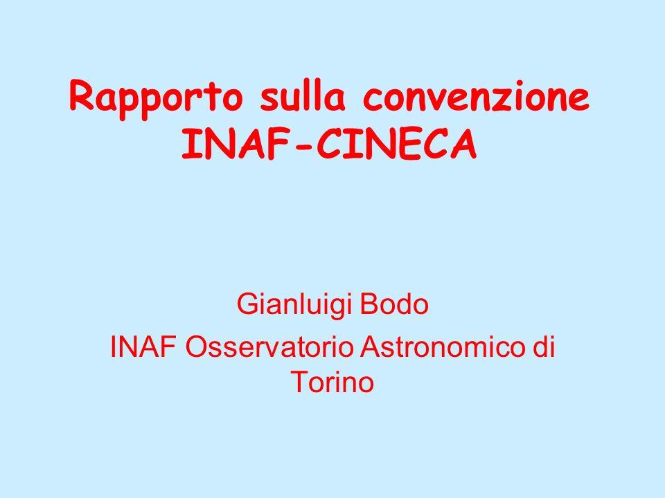 Rapporto sulla convenzione INAF-CINECA