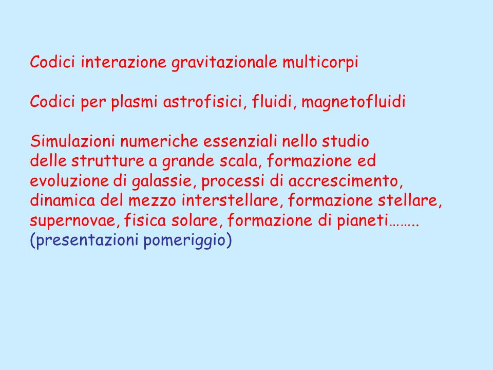 Codici interazione gravitazionale multicorpi