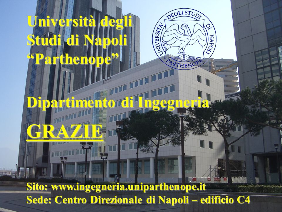 GRAZIE Università degli Studi di Napoli Parthenope