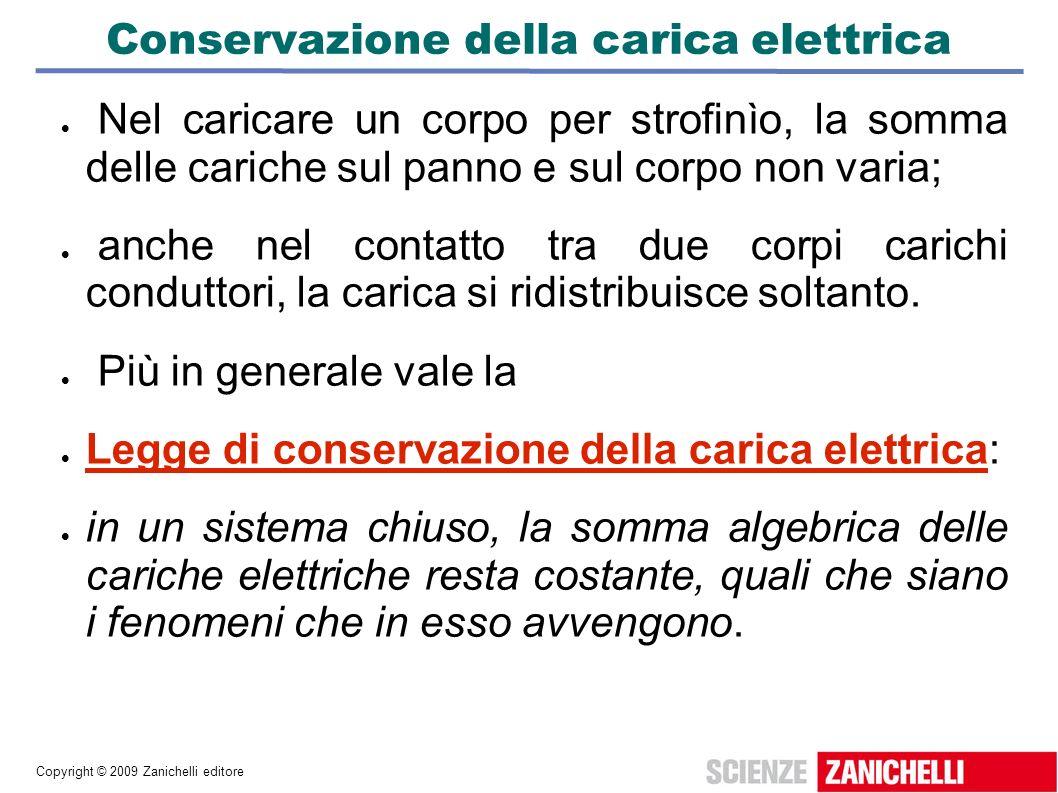 Conservazione della carica elettrica